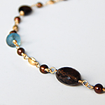 Smokey Topaz and London Blue Necklace