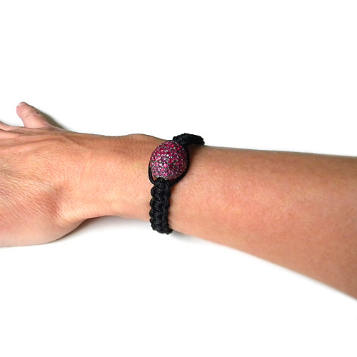 FACETED RUBY MACRAME BRACELET